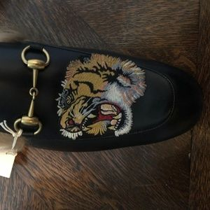 Gucci Shoes - Gucci Princetown Fur Tiger Slippers (Men's 10)